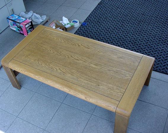 センターテーブル塗装後